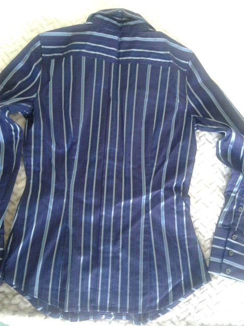 Express Longsleeve 44% Cotton Great Fit Made In Indonesia Button Down Shirt dark blue Image 1