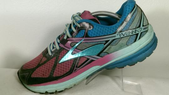 Brooks Ravenna Jogging Running GREEN PINK BLACK Athletic Image 2