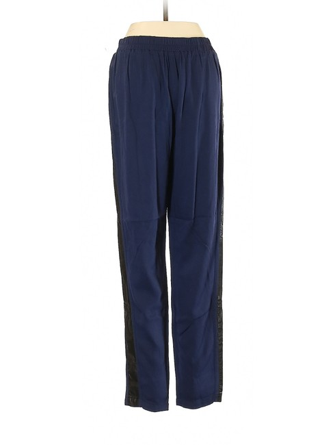 Anthropologie Herem Jogger Relaxed High Rise Boyfriend Pants Blue Image 1