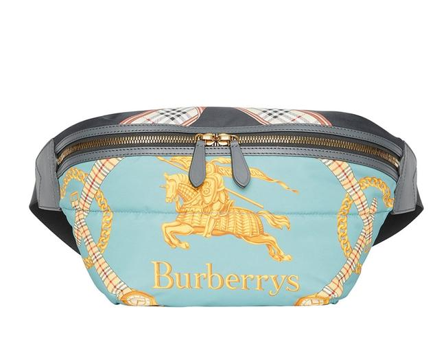 Burberry Belt Archive Scarf Print / Fanny Pack Blue Cross Body Bag Burberry Belt Archive Scarf Print / Fanny Pack Blue Cross Body Bag Image 1