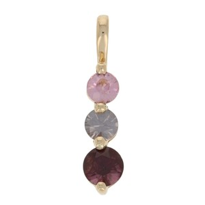Other NEW 1.16ctw Round Cut Spinel Pendent - 14k Yellow Gold Tapered E3393
