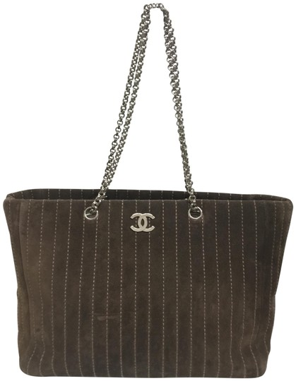 Preload https://img-static.tradesy.com/item/25350346/chanel-mademoiselle-vertical-quilted-brown-suede-leather-tote-0-2-540-540.jpg