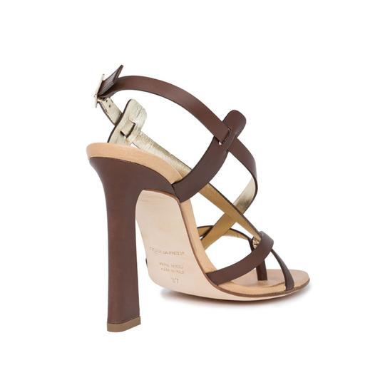 Dsquared2 Leather Made In Italy High Brown Sandals Image 3