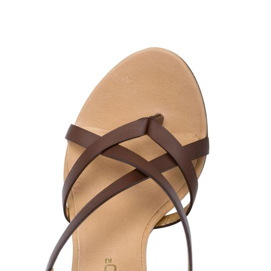 Dsquared2 Leather Made In Italy High Brown Sandals Image 6
