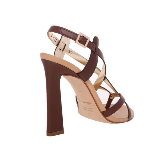 Dsquared2 Leather Made In Italy High Brown Sandals Image 7