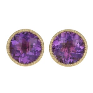 other NEW 1.37ctw Amethyst Earrings - 14k Yellow Gold E3445
