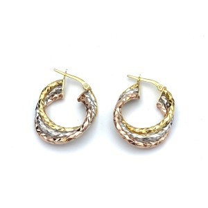 other (906) 14k tri color gold earrings