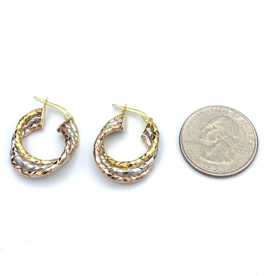other (906) 14k tri color gold earrings Image 3