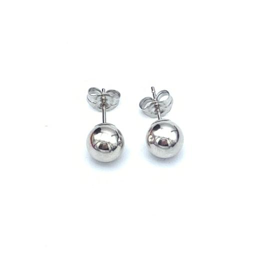 Other (908) 14k white gold stud earrings Image 1