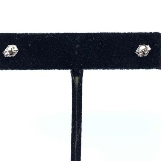 Other (908) 14k white gold stud earrings Image 2