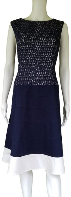 Preload https://img-static.tradesy.com/item/25350468/anne-klein-navy-blue-lace-top-mid-length-short-casual-dress-size-16-xl-plus-0x-0-1-650-650.jpg