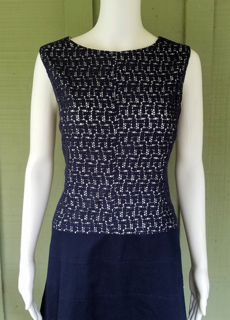 Anne Klein short dress Navy Blue Lace Dropped Waist on Tradesy Image 1