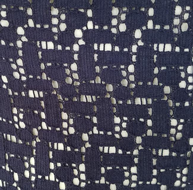 Anne Klein short dress Navy Blue Lace Dropped Waist on Tradesy Image 2
