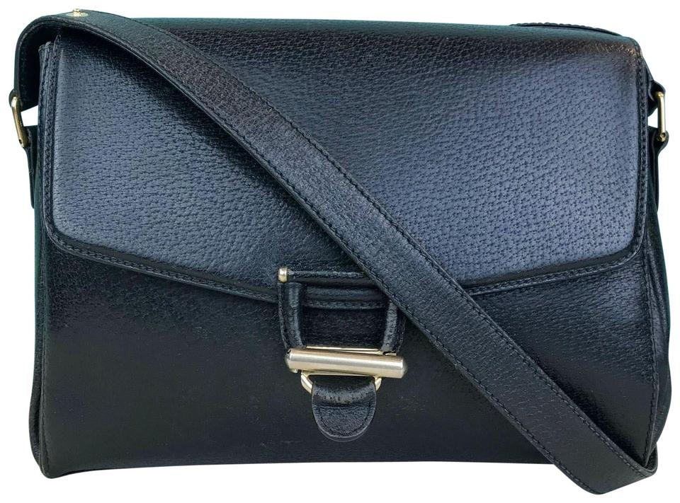 Gucci Crossbody Flap Vintage Bag/Crossbody Purse Sale Black Leather  Shoulder Bag 73% off retail