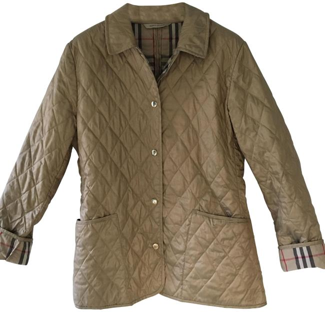 Item - Tan/Gold London Quilted Coat Jacket Size 2 (XS)