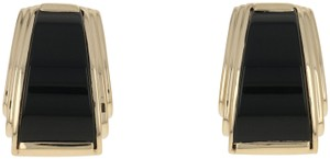Other Onyx Earrings - 14k Yellow Gold Tapered Pierced E3620
