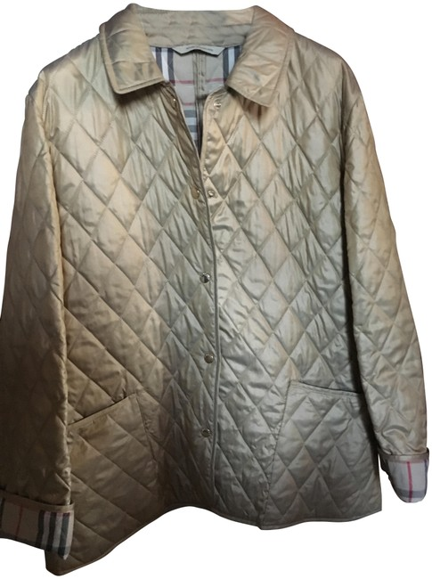 Item - Tan/Gold London Quilted Medium Coat Jacket Size 8 (M)