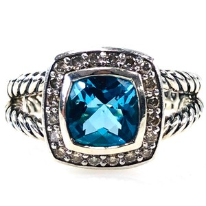 David Yurman David Yurman Sterling Silver Blue Topaz Petite Albion Ring