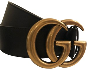 57018ebf541 Gucci Gucci Leather Belt with Double G-Womens