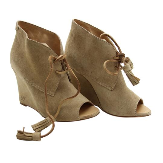 Dsquared2 Suede Wedge Suede Ds2 Beige Boots Image 2