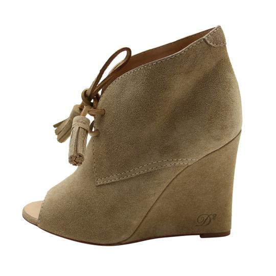 Dsquared2 Suede Wedge Suede Ds2 Beige Boots Image 3