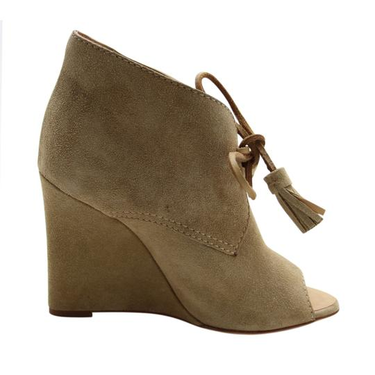 Dsquared2 Suede Wedge Suede Ds2 Beige Boots Image 5
