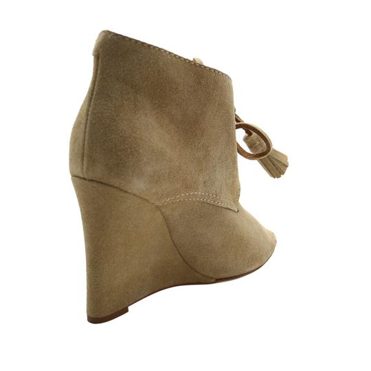 Dsquared2 Suede Wedge Suede Ds2 Beige Boots Image 6