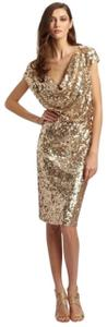 St. John Cowl-neck New With Tags Lined Sequins Dress