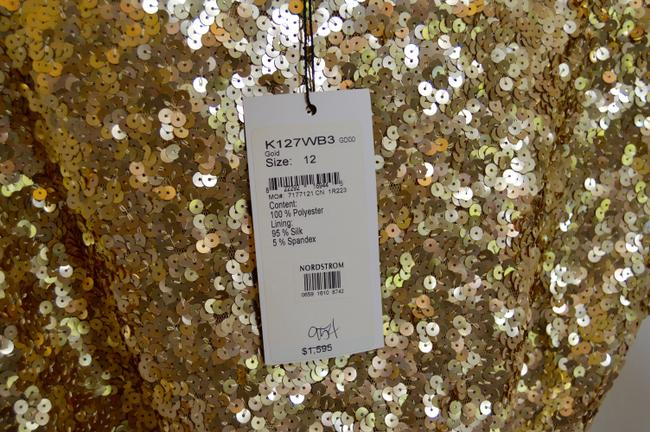 St. John Cowl-neck New With Tags Lined Sequins Dress Image 10