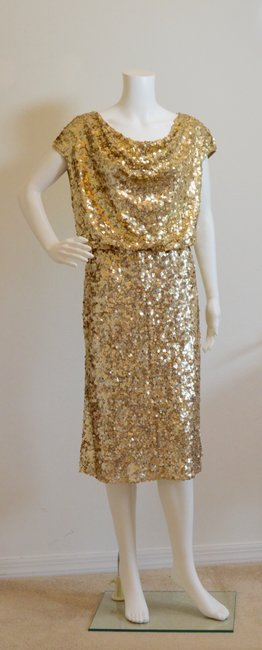 St. John Cowl-neck New With Tags Lined Sequins Dress Image 3