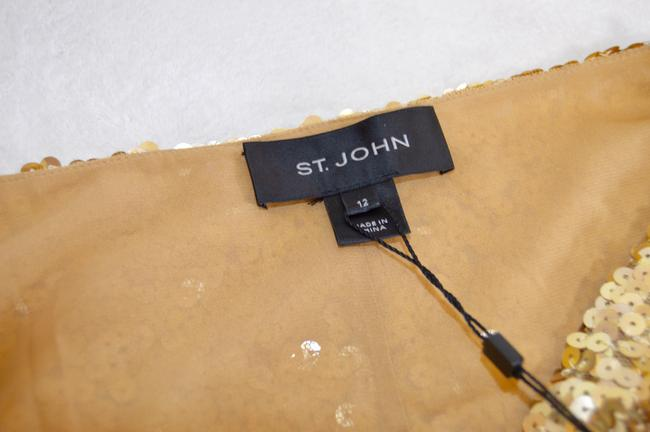 St. John Cowl-neck New With Tags Lined Sequins Dress Image 4