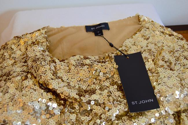 St. John Cowl-neck New With Tags Lined Sequins Dress Image 6