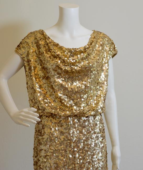St. John Cowl-neck New With Tags Lined Sequins Dress Image 9