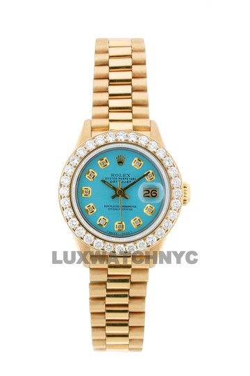 Preload https://img-static.tradesy.com/item/25350588/rolex-turquoise-color-dial-18ct-26mm-datejust-18k-gold-presidential-with-box-and-appraisal-watch-0-0-540-540.jpg
