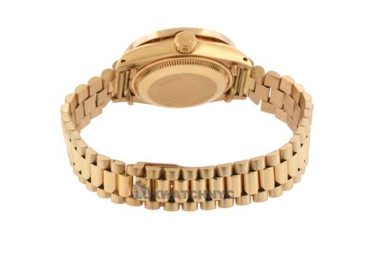 ROLEX 1.8ct 26mm Datejust 18k Gold Presidential with Box & Appraisal Watch Image 3