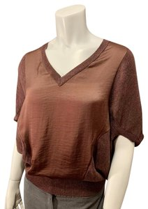 Allsaints Office V Neck Mixed Fabric New Sweater