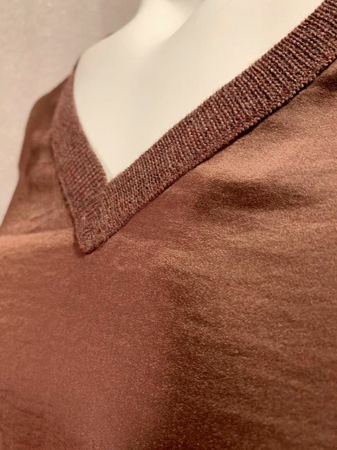 Allsaints Office V Neck Mixed Fabric New Sweater Image 2