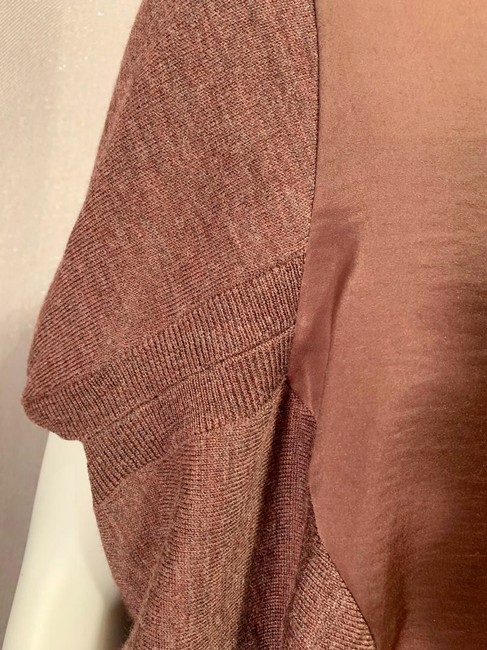 Allsaints Office V Neck Mixed Fabric New Sweater Image 3
