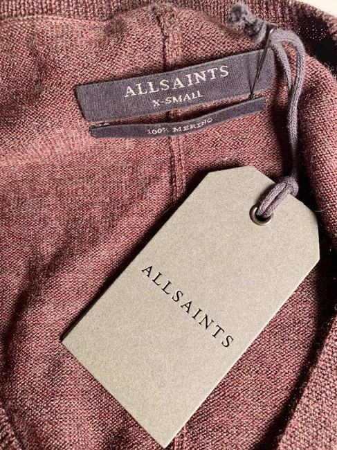 Allsaints Office V Neck Mixed Fabric New Sweater Image 4