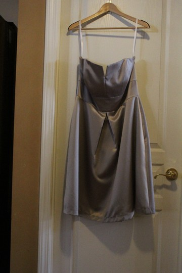 Social Bridesmaids Taupe 8135 Modern Bridesmaid/Mob Dress Size 14 (L) Image 1