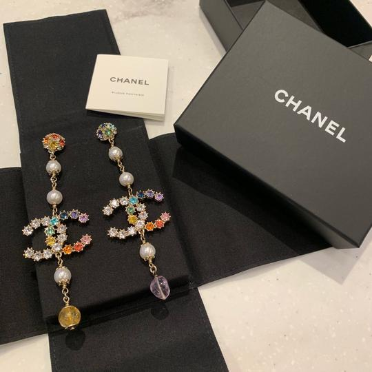 Chanel Chanel 2019 Runway Rainbow Long Earrings Image 3