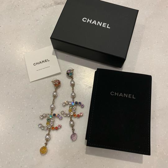 Chanel Chanel 2019 Runway Rainbow Long Earrings Image 8
