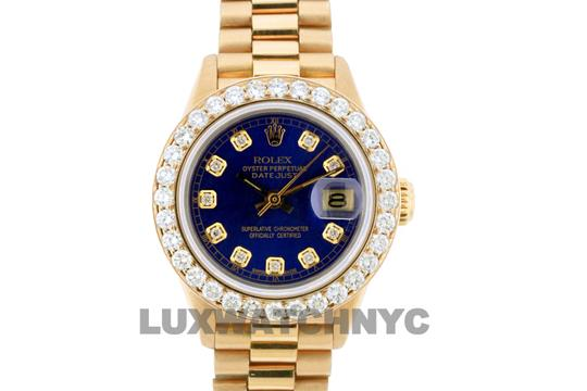 ROLEX 1.8ct 26mm Datejust 18k Gold Presidential with Box & Appraisal Watch Image 1