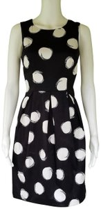 Muse short dress Black, white Cotton Blend Cut-out on Tradesy