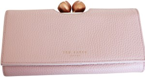 Ted Baker Ted Baker Muscovy Bobble Matinee light Pink Leather Wallet