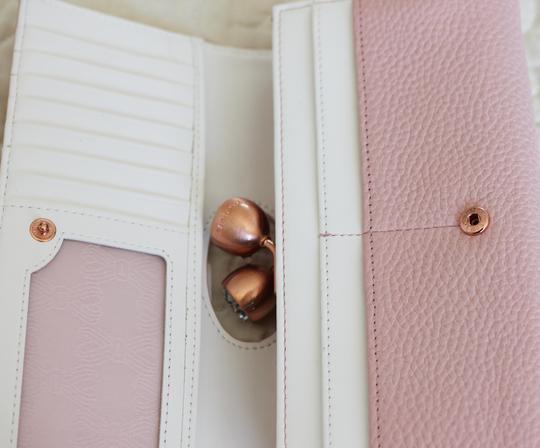 Ted Baker Ted Baker Muscovy Bobble Matinee light Pink Leather Wallet Image 6