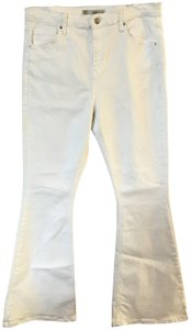 Topshop Moto Wide High Waisted Flare Leg Jeans