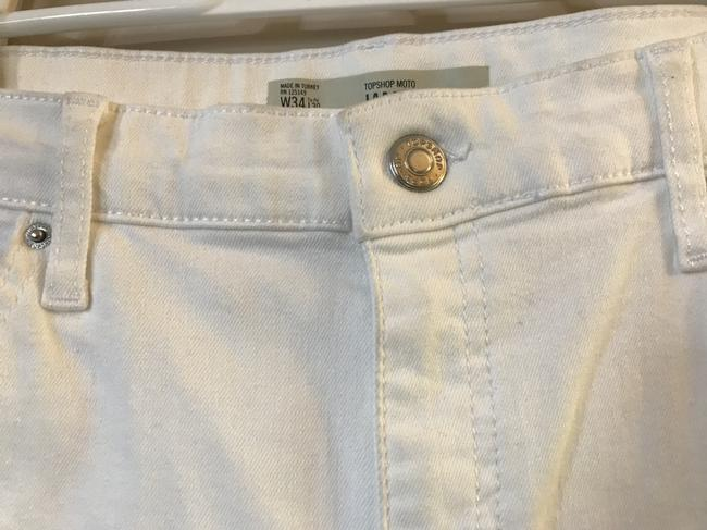 Topshop Moto Wide High Waisted Flare Leg Jeans Image 10
