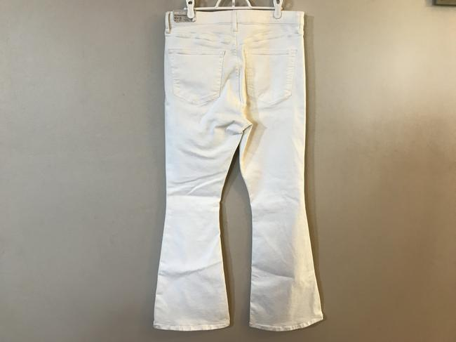 Topshop Moto Wide High Waisted Flare Leg Jeans Image 5