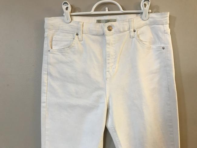 Topshop Moto Wide High Waisted Flare Leg Jeans Image 6